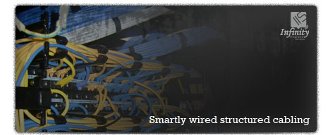 Smartly wired structured cabling.